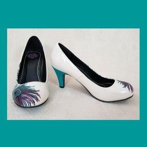 T.U.K. peacock heels